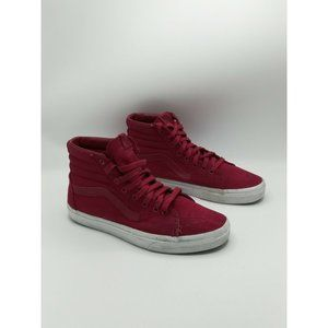 Vans Off the Wall High Top Canvas Shoes Red